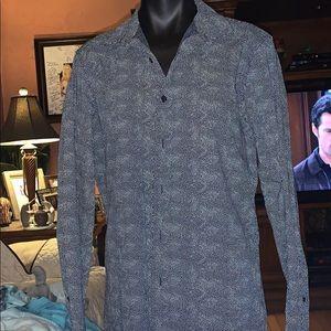Marc Anthony button down shirt blue medium slim